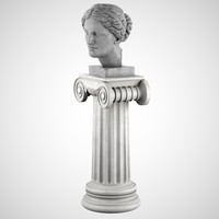 Aphrodite Bust With Pedestal