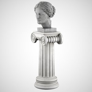 decorative bust aphrodite pedestal max