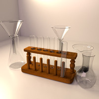 test tube rack set 3d max
