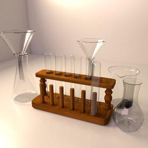 test tube rack set 3d max