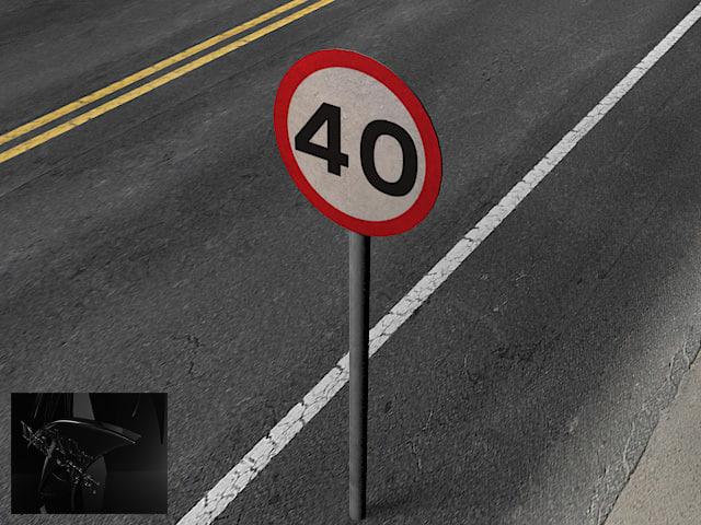 road signs obj