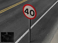 road signs obj