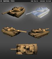 3d m1 abrams tank model