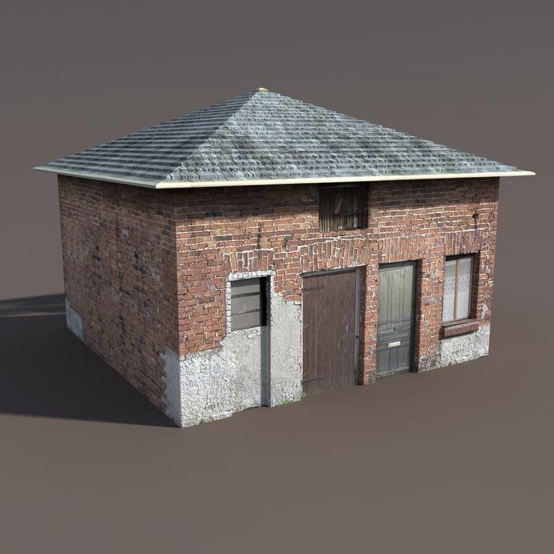 3d building modelled model