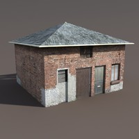 3d building modelled model
