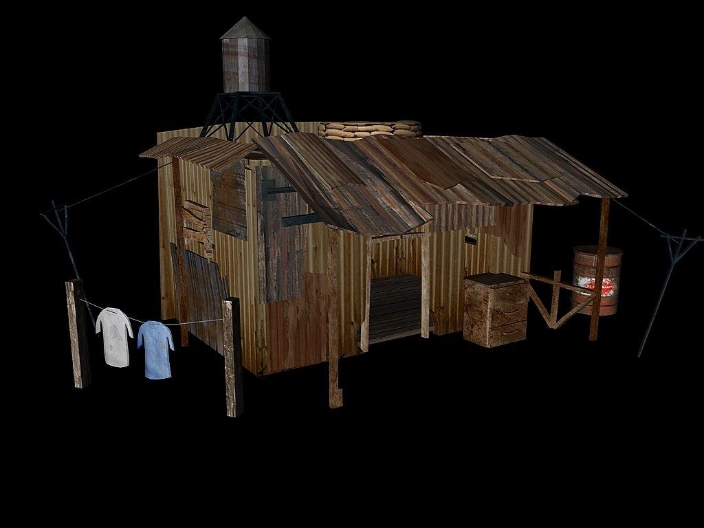 c4d shanty shack