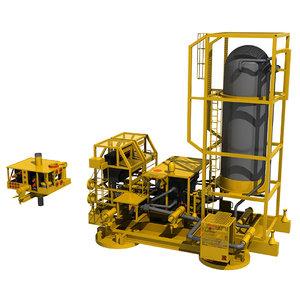subsea offshore modules 3d model