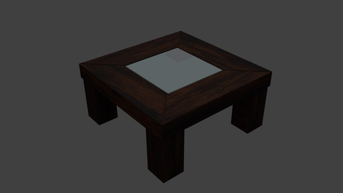 3ds max living room table