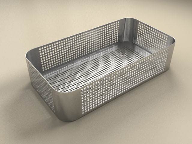 medical tool tray 3d model