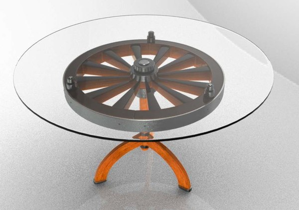 3d model wheel table