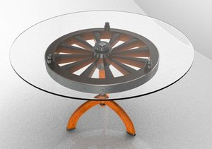 3d model wheel table