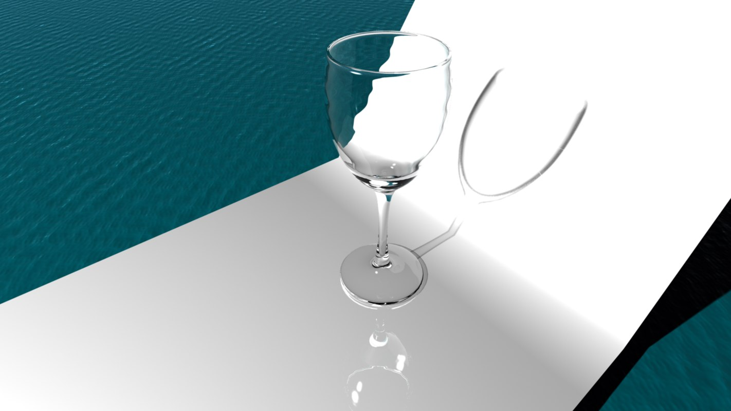 simple wine glass 3d ma