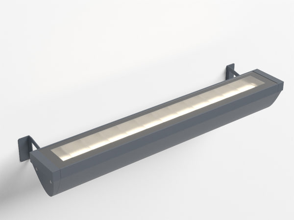 3d model of erco focalflood facade luminaire
