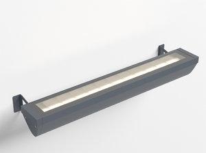 3d model of erco focalflood facade luminaire