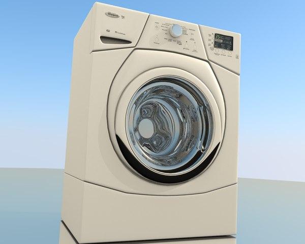whirlpool washer 3d obj