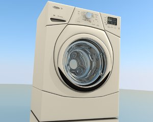 whirlpool washer 3d obj