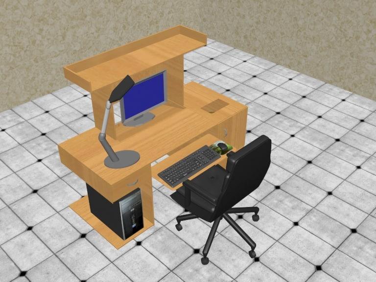 3ds computer desk