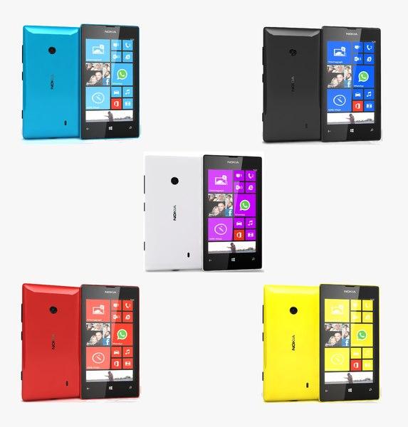 nokia lumia 520 colors 3d 3ds