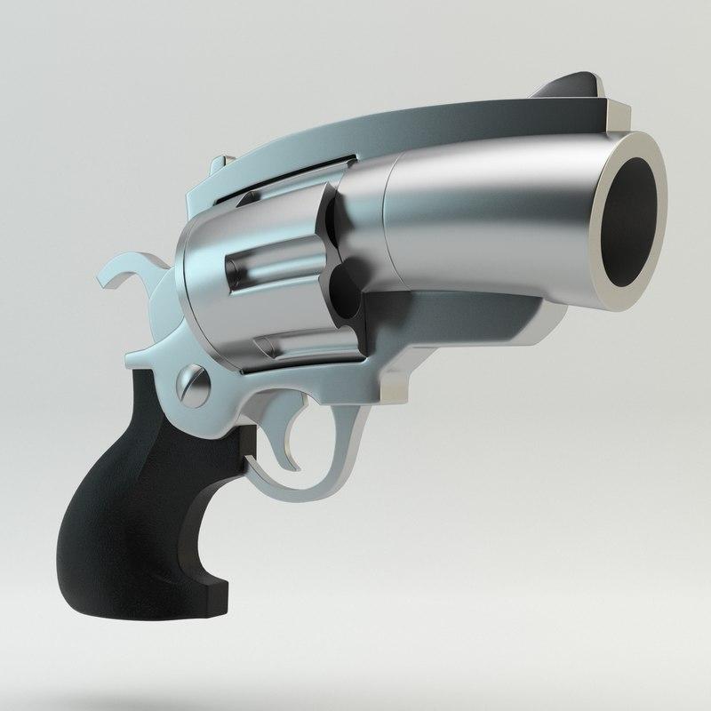 3ds cartoon revolver