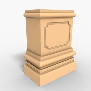 3d interior plinth block