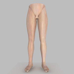 3d realistically male legs model