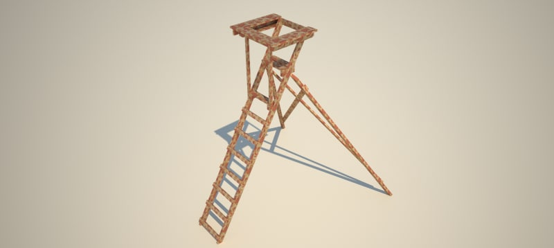 mobile huntingtower 3d model