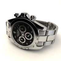 3d model rolex daytona black