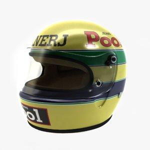 ayrton senna helmet 1983 3d 3ds