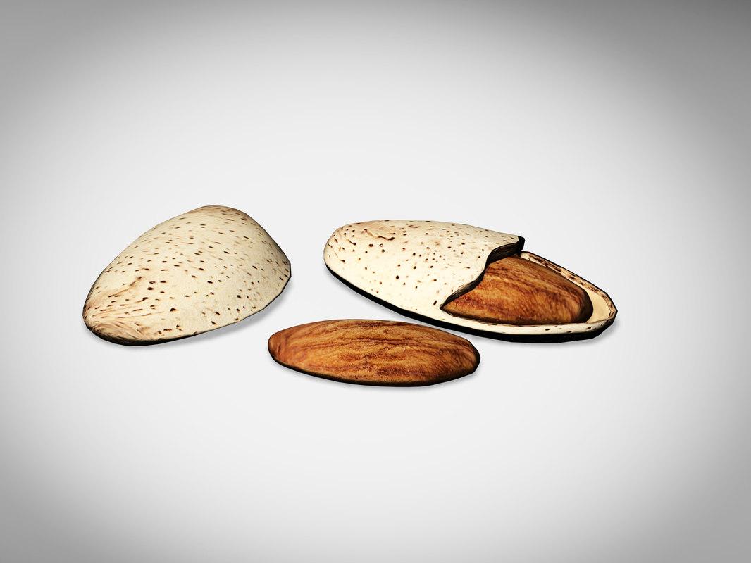 3d model almonds