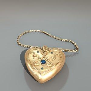 heart amulet 3d model