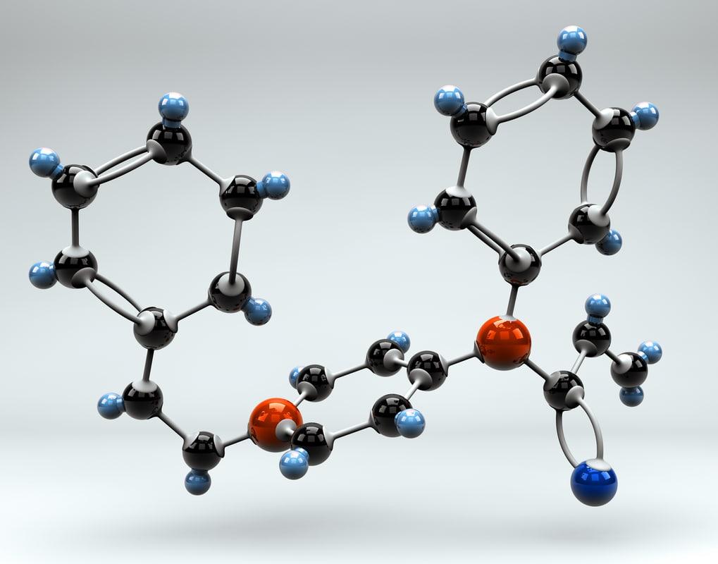fentanyl molecule 3d model