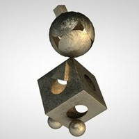 3d metal bronze gold materials model