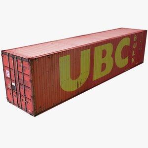 ubc cargo container 3d model