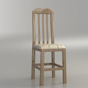 classical chair 3 3d model