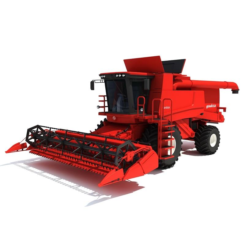 3d max combine harvester