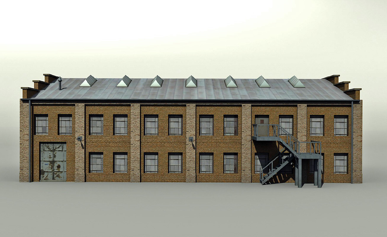 old factory hall 3d model
