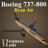 boeing 737-800 ryr 3d max