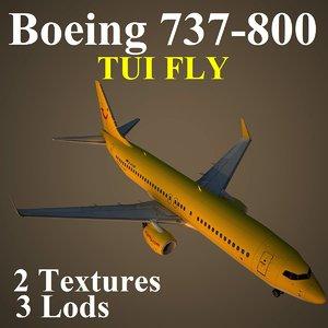 boeing 737-800 tui 3d model