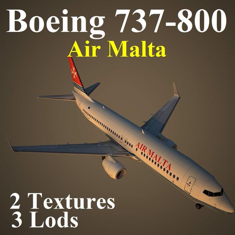 boeing 737-800 amc 3d model
