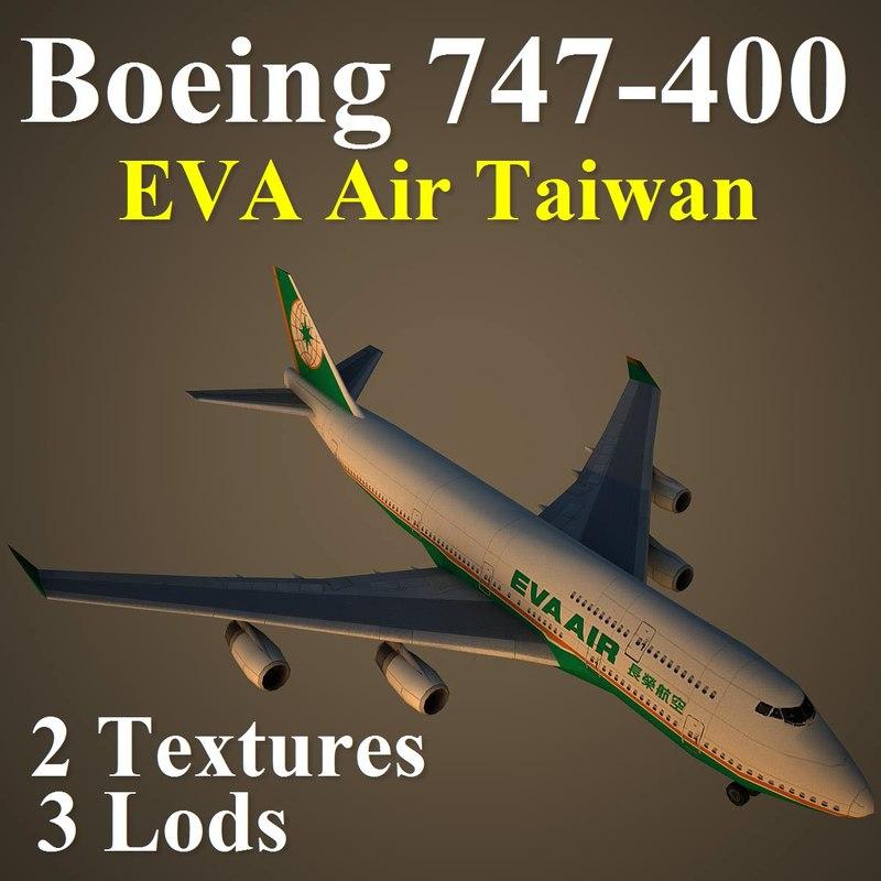 boeing 747-400 eva 3d model