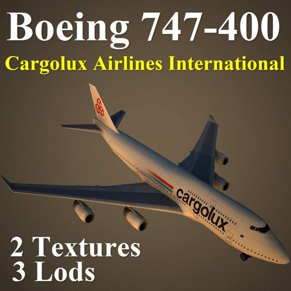 3d model boeing 747-400 clx