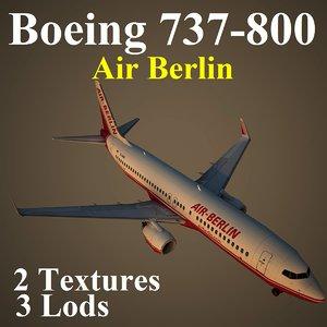 3d model boeing 737-800 ber