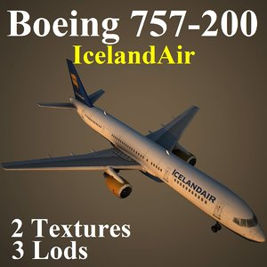 3d boeing 757-200 ice model