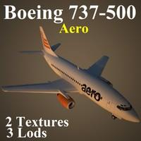 3d boeing 737-500 nig