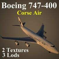 3d model boeing 747-400 csa