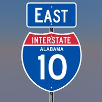 3D Alabama Interstate 10 Signs