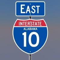 interstate 10 signs alabama c4d