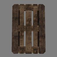 free wooden pallet 3d model
