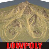 3d mountain maps terrain model