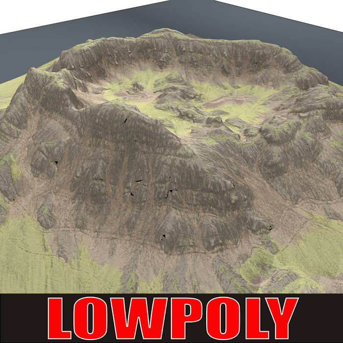 mountain maps terrain 3ds